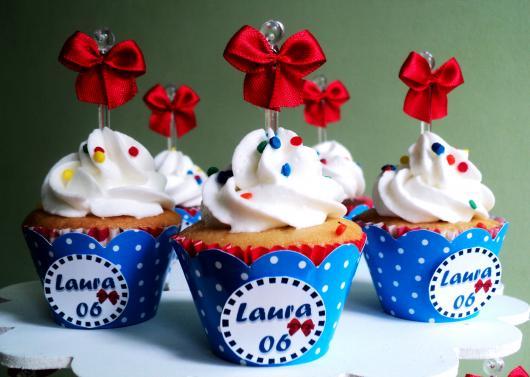 cupcake branca de neve Chantilly