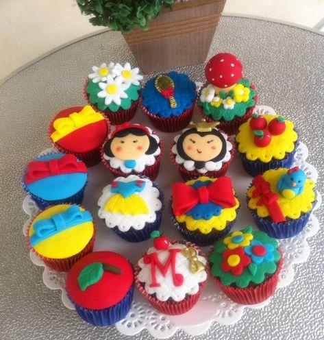 cupcake branca de neve Personalizado