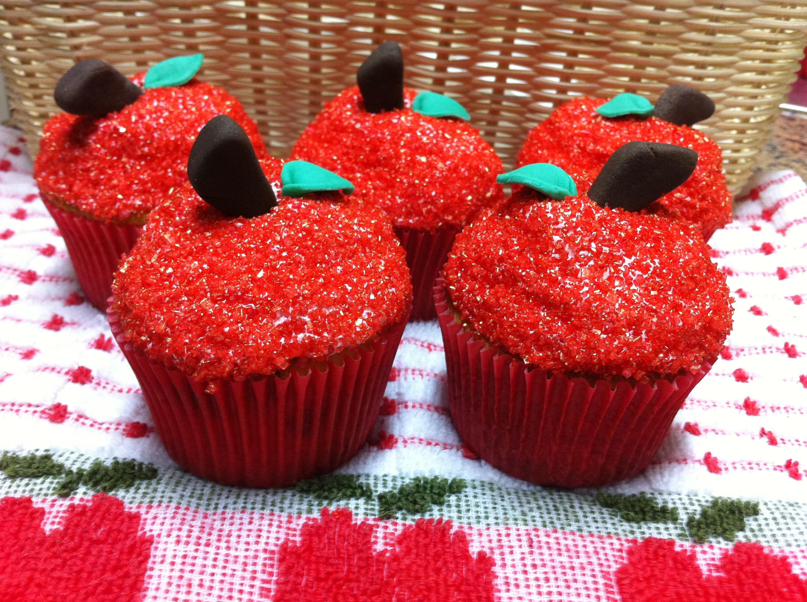 cupcake branca de neve Simples