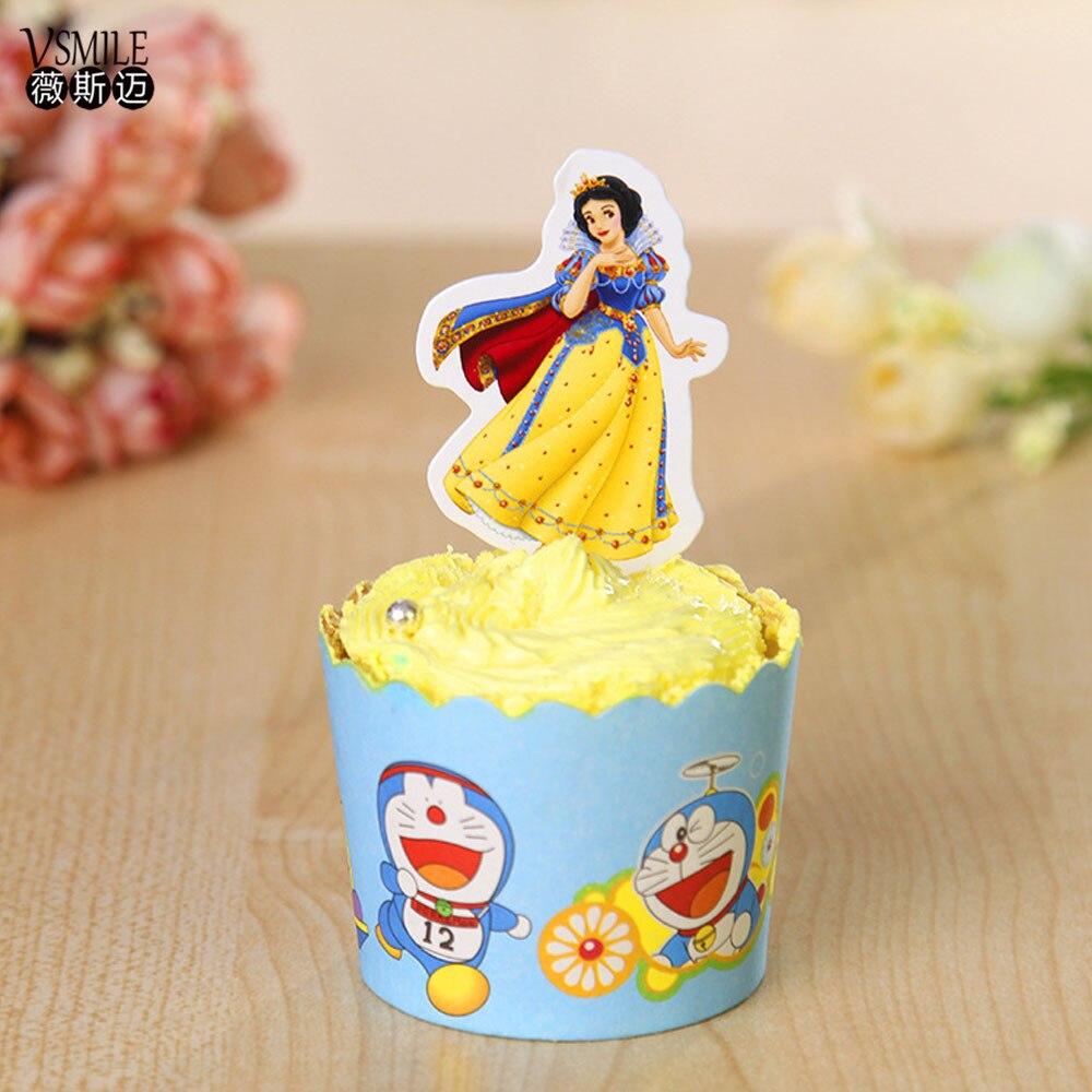 cupcake branca de neve Topper