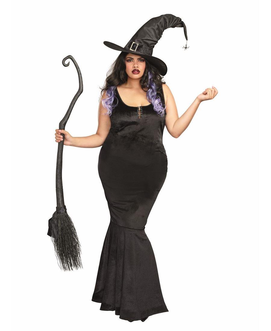 fantasia de bruxa Plus Size