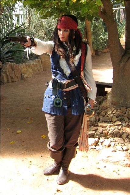 fantasia jack sparrow Feminina