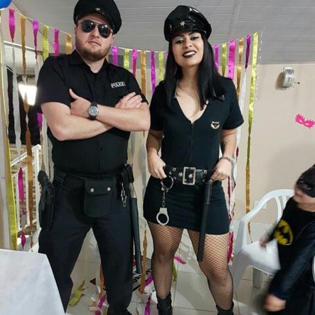 fantasia policial Criativa