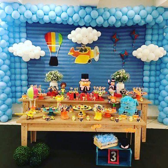 festa mundo bita Azul