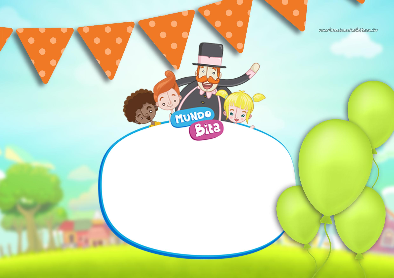 festa mundo bita Convite