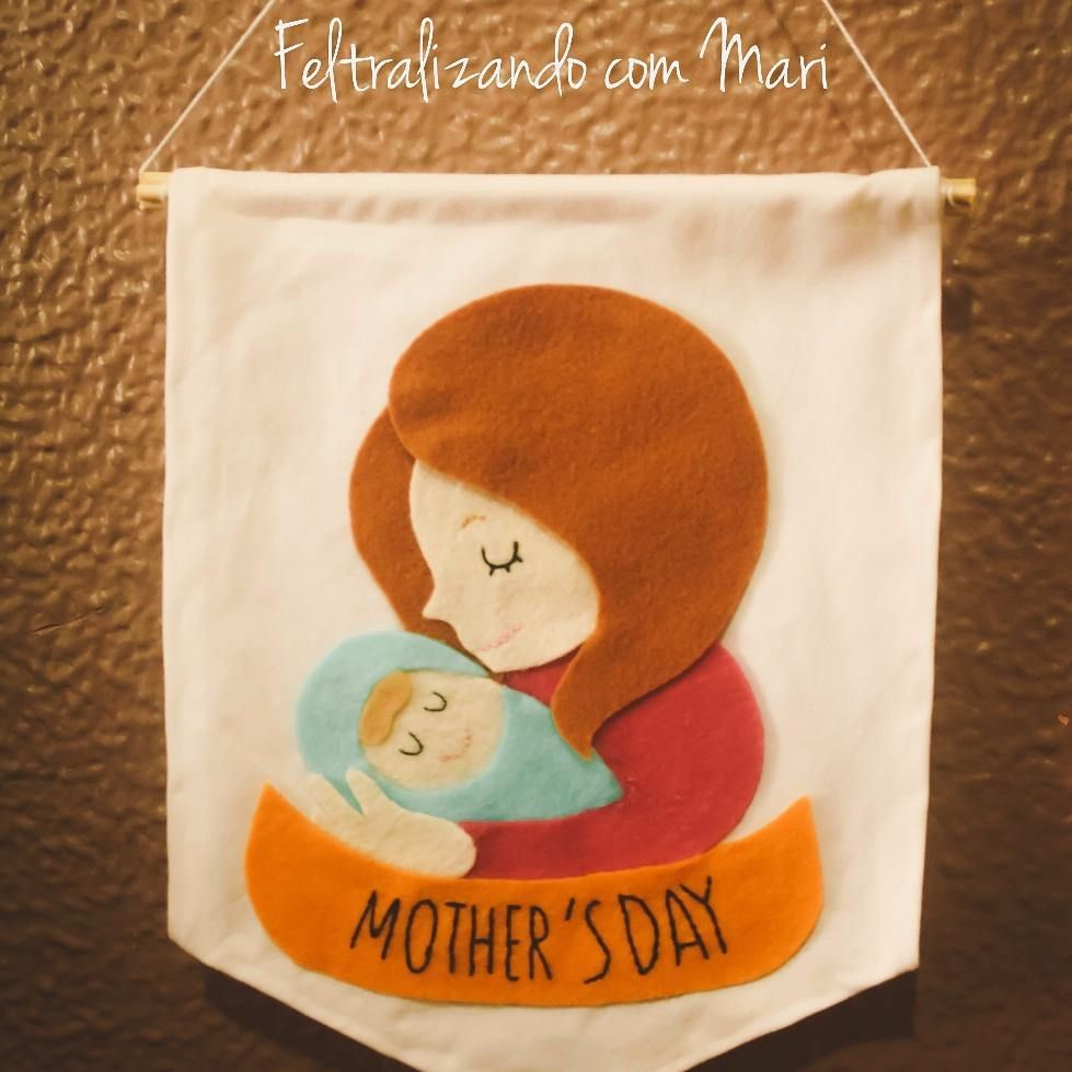 lembrancinha em feltro Para o Dia das Mães