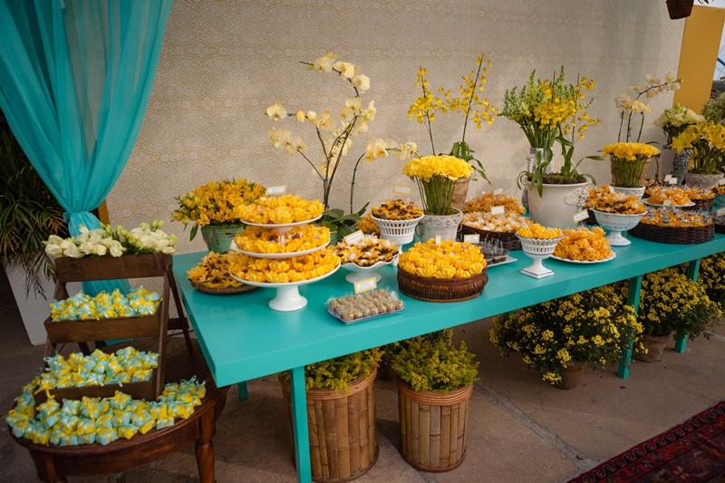 festa azul tiffany E Amarelo