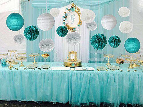 festa azul tiffany E Dourado