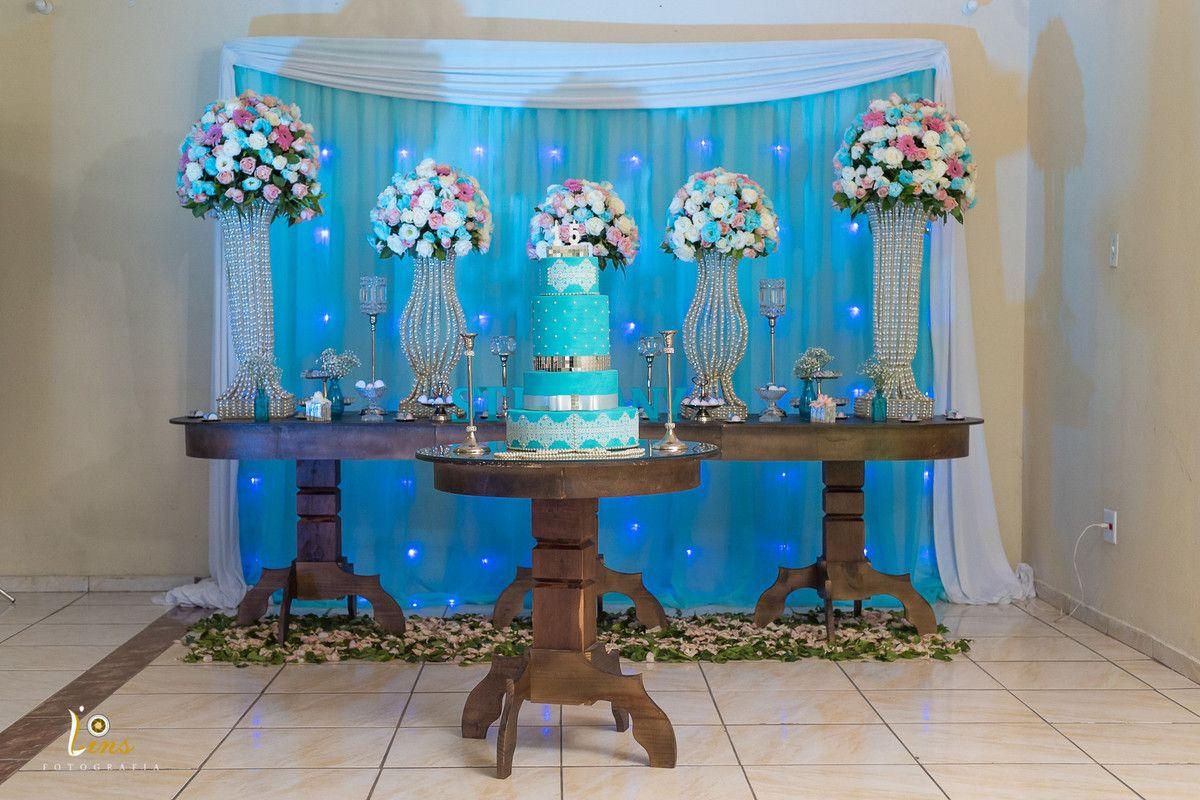 festa azul tiffany Simples