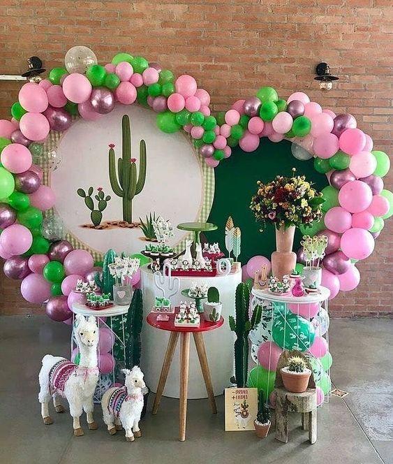 festa cactos Rosa