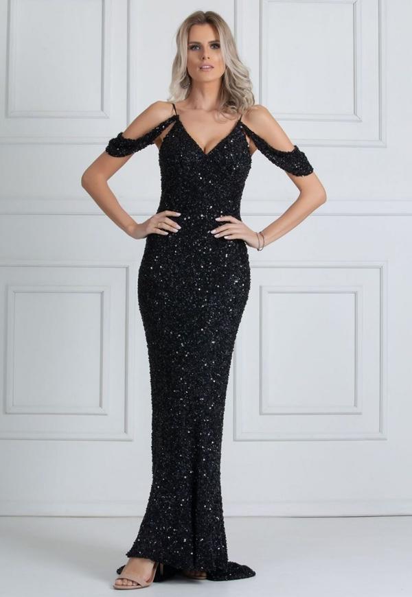 vestido de formatura Preto