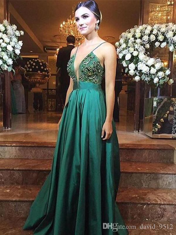 vestido de formatura Verde