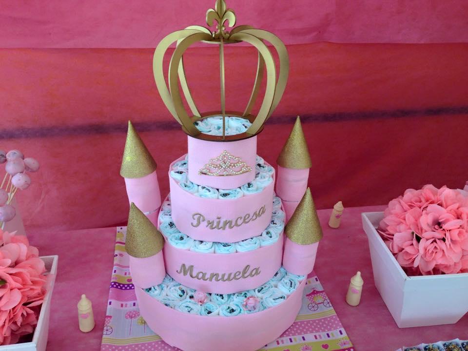 bolo azul e rosa Princesas
