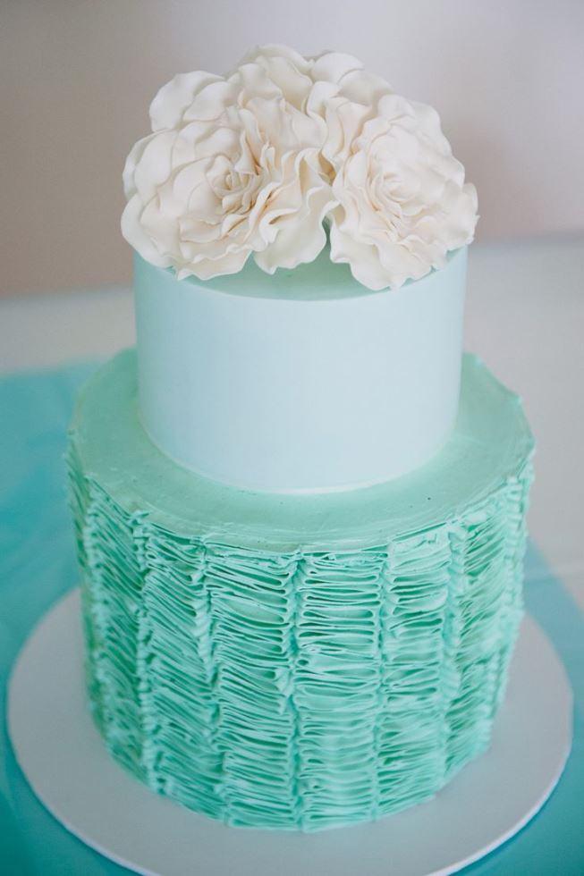bolo azul tiffany De Casamento
