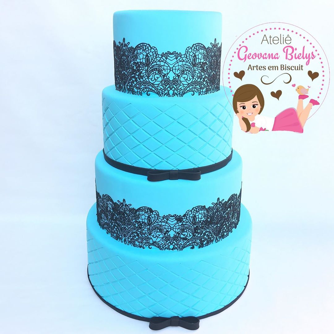 bolo azul tiffany Fake