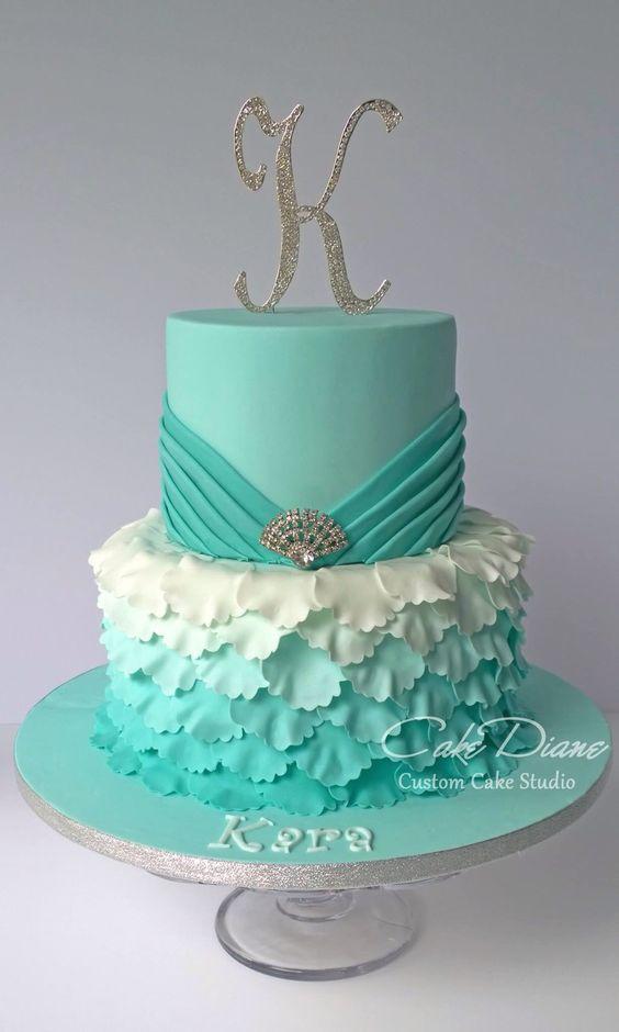 bolo azul tiffany Pasta Americana