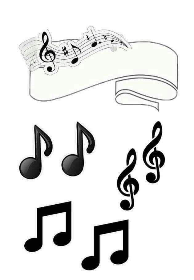 bolo com notas musicais Topo de Bolo