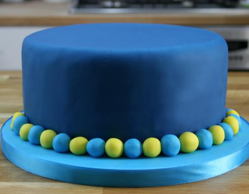 bolo com pasta americana Azul