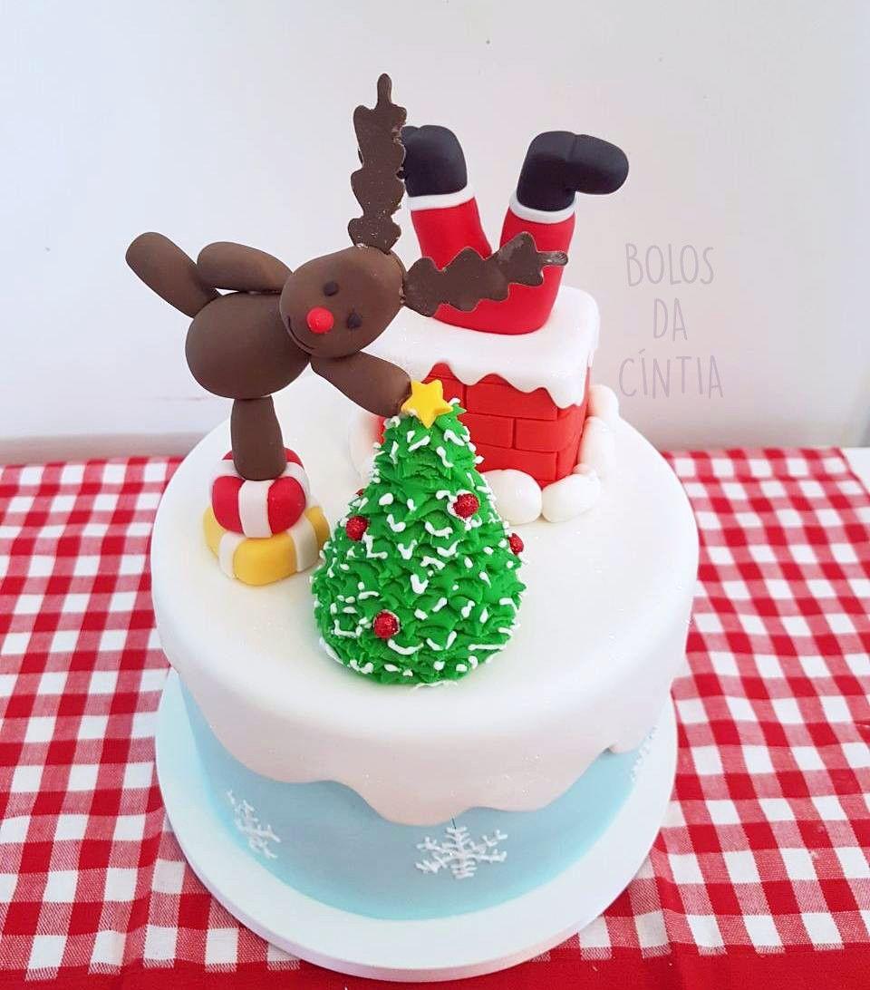 bolo com pasta americana De Natal