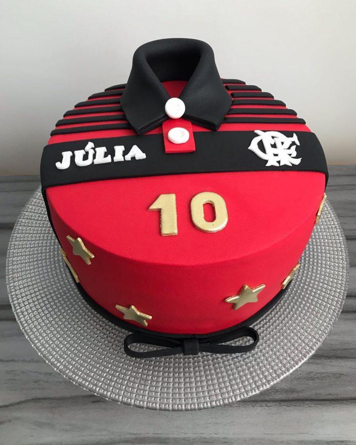 bolo com pasta americana Do Flamengo