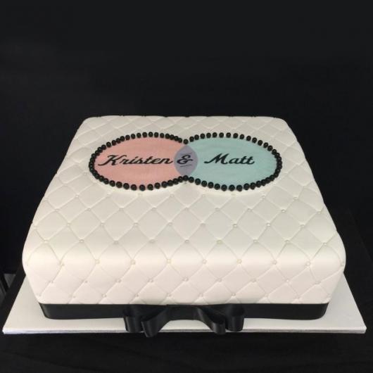 bolo com pasta americana Quadrado