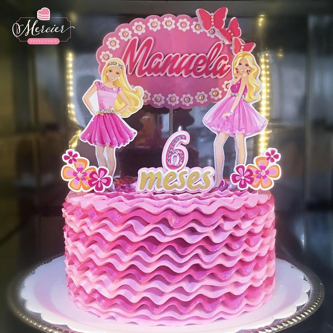 bolo de aniversario infantil Barbie