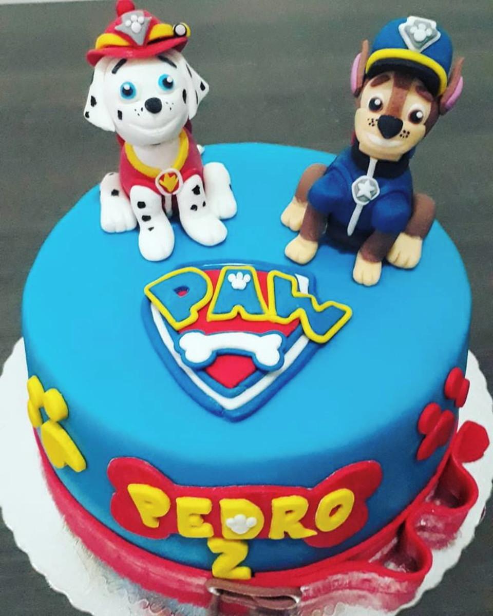 bolo de aniversario infantil Patrulha Canina