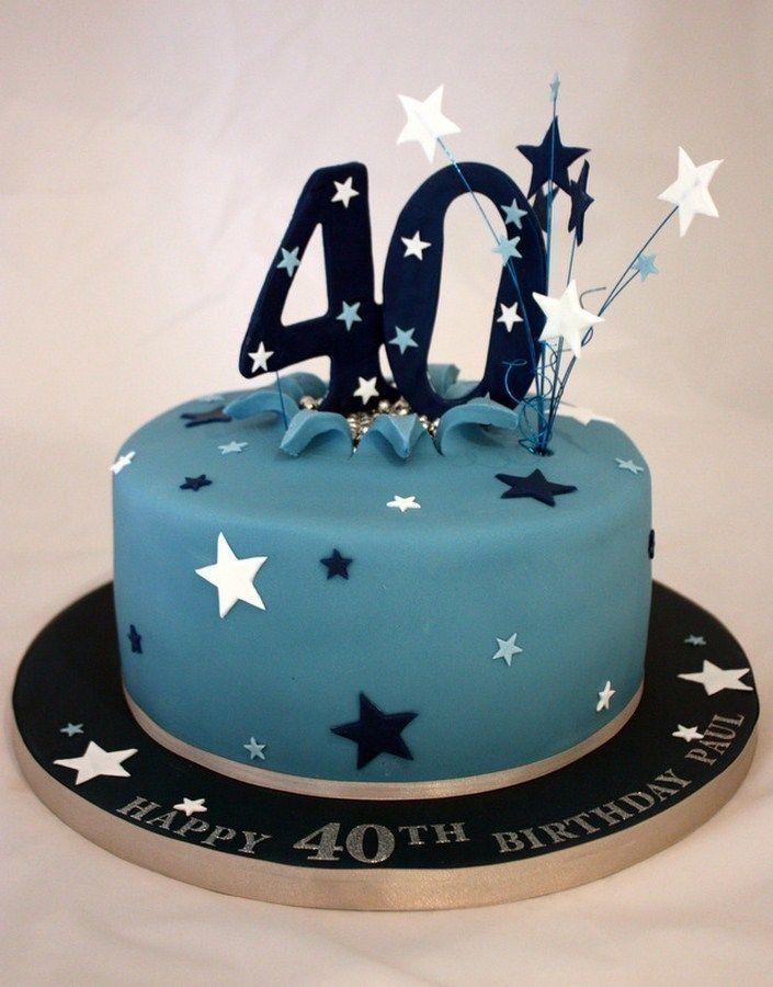 Bolo de Aniversário Masculino 40 anos