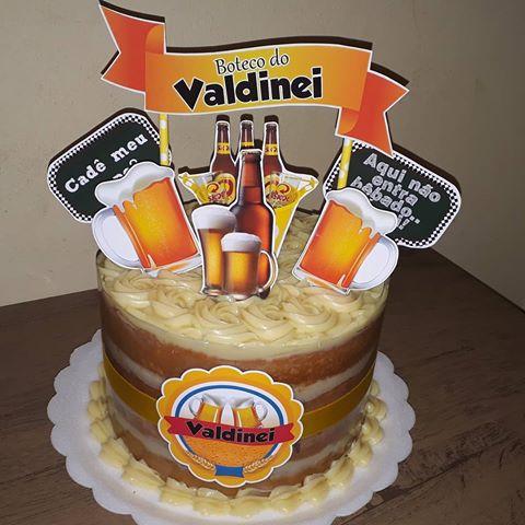 Bolo de Aniversário Masculino Cerveja