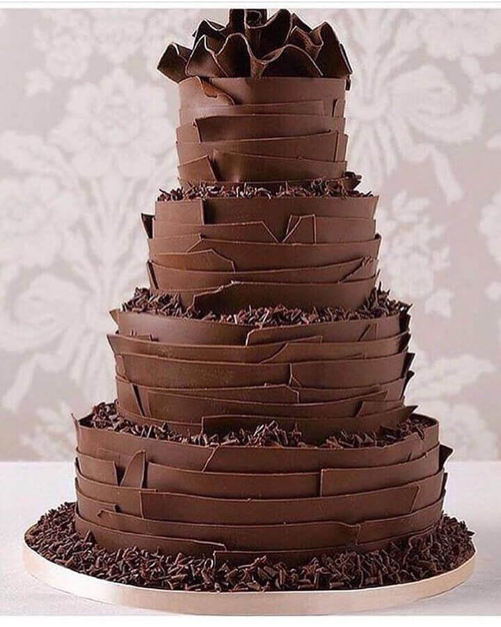 Bolo de Aniversário Masculino Chocolate