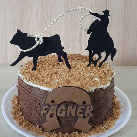 Bolo de Aniversário Masculino Cowboy