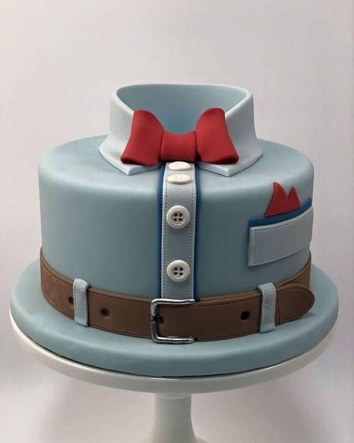 Bolo de Aniversário Masculino Pasta Americana