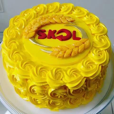 Bolo de Aniversário Masculino Skol