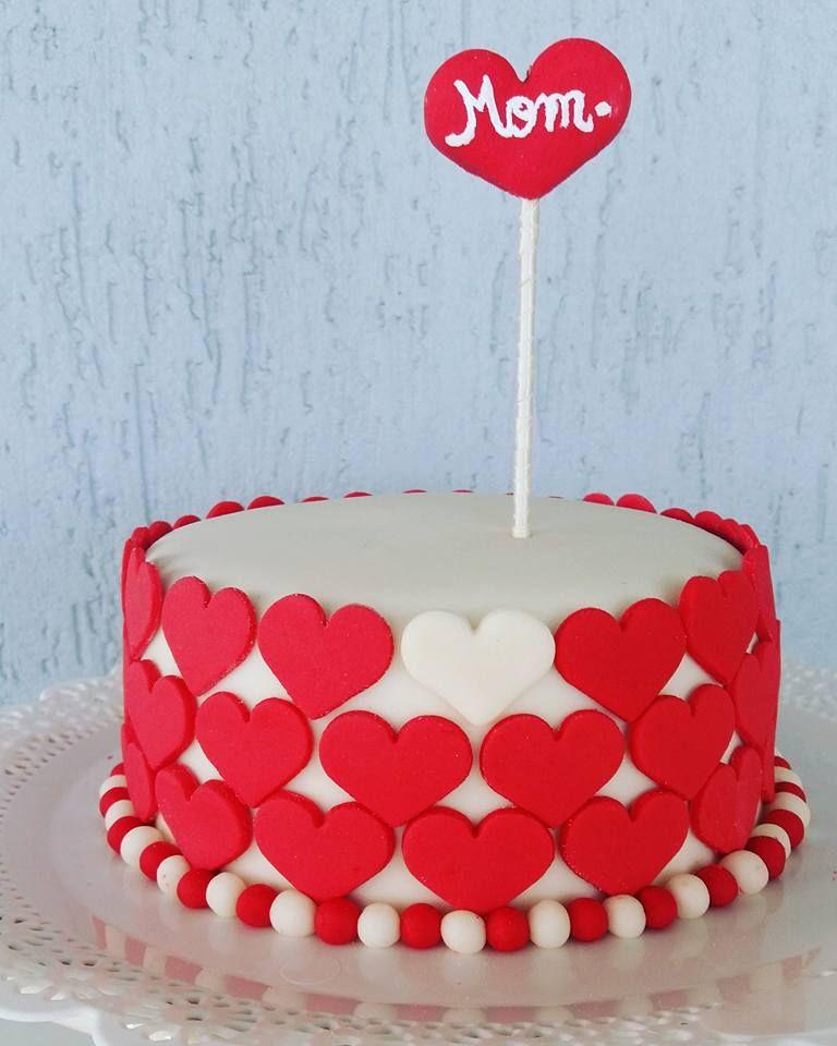 bolo de aniversario simples Para mãe