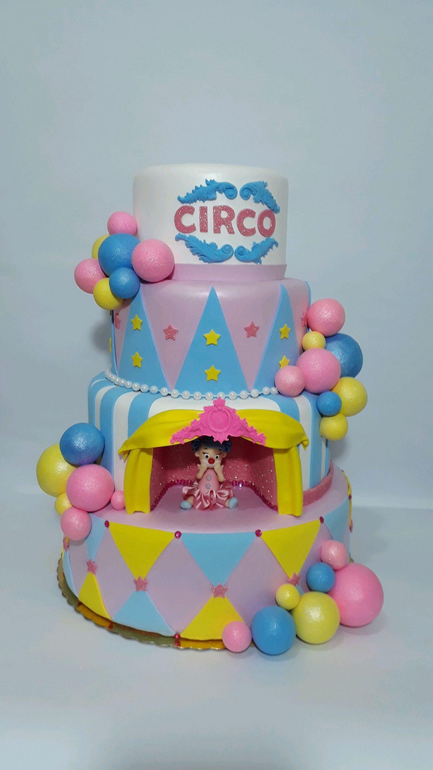 bolo fake circo Rosa E.V.A.