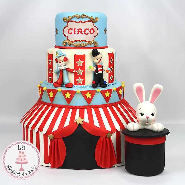 bolo fake circo Vintage