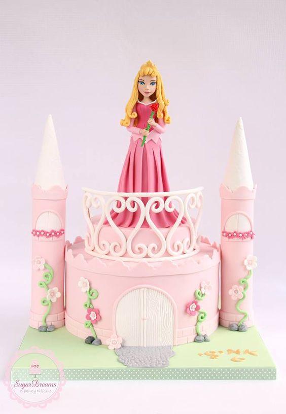bolo fake princesa Aurora