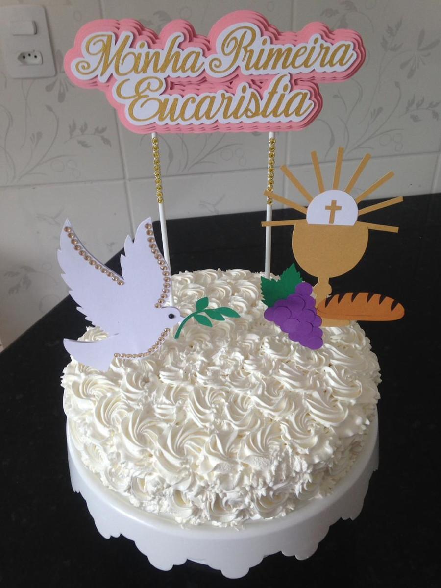 bolo primeira comunhao Chantilly