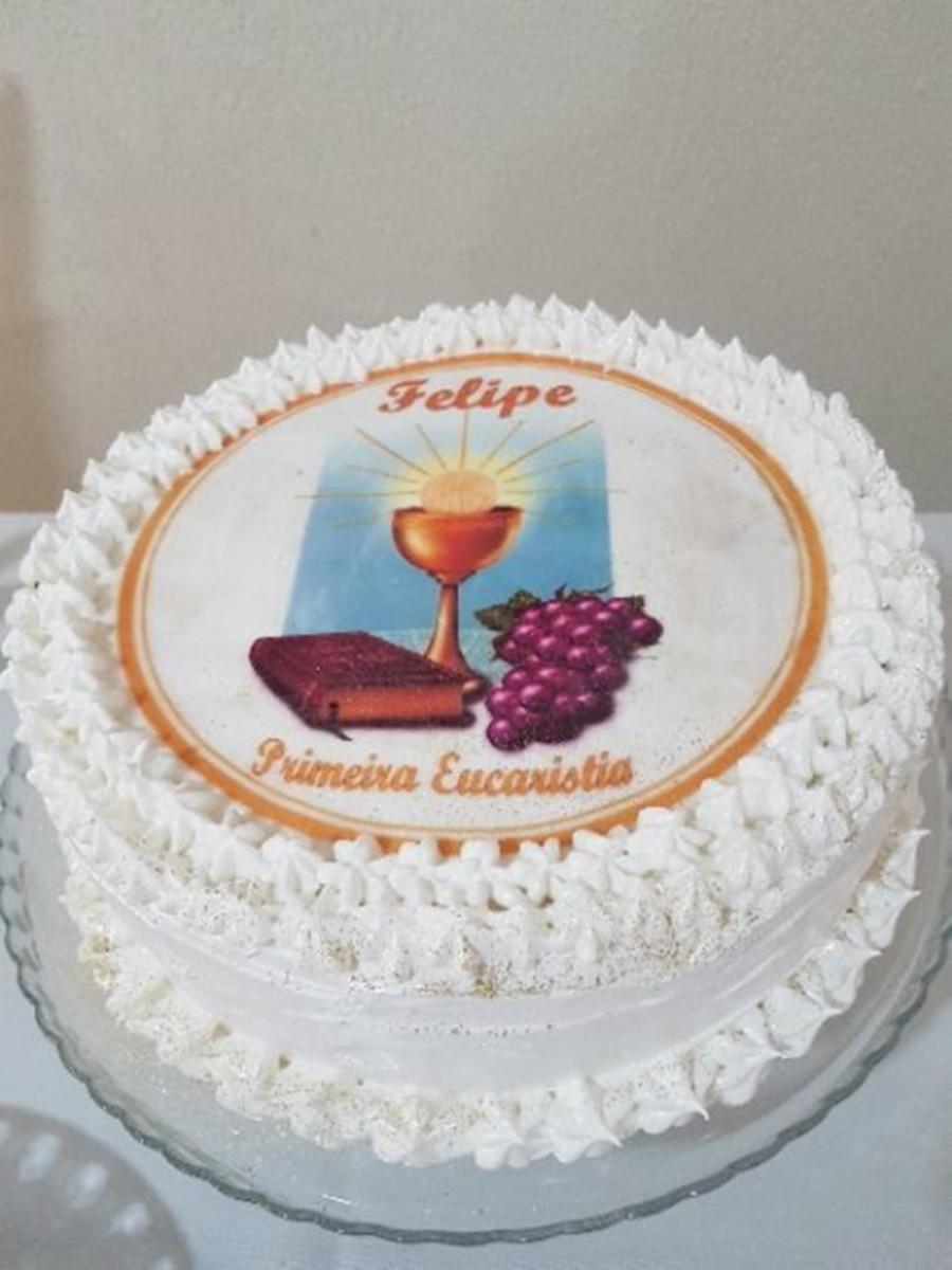 bolo primeira comunhao Papel Arroz