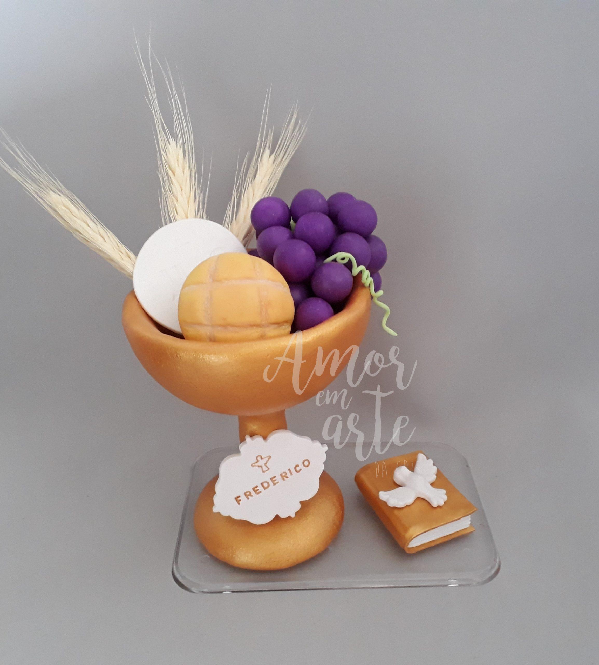 bolo primeira comunhao Topo de Bolo