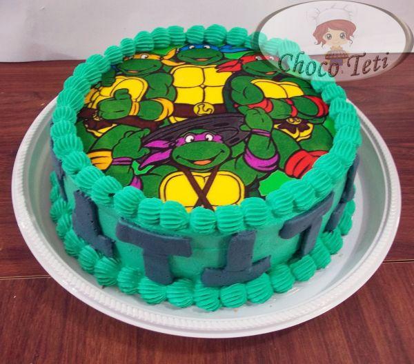 bolo tartaruga ninja Com Papel Arroz