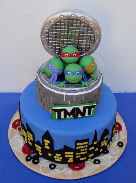 bolo tartaruga ninja Pasta Americana