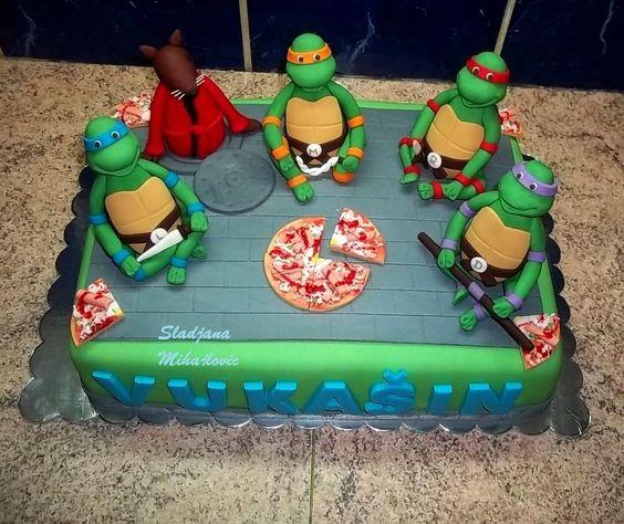 bolo tartaruga ninja Quadrado