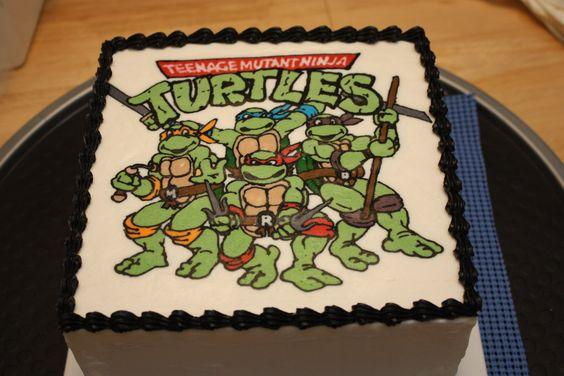 bolo tartaruga ninja Simples