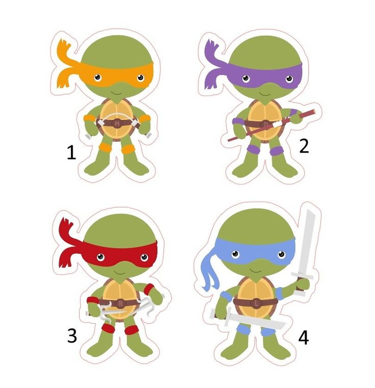 bolo tartaruga ninja Topo de Bolo