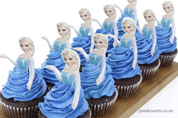 cupcake da frozen Elsa