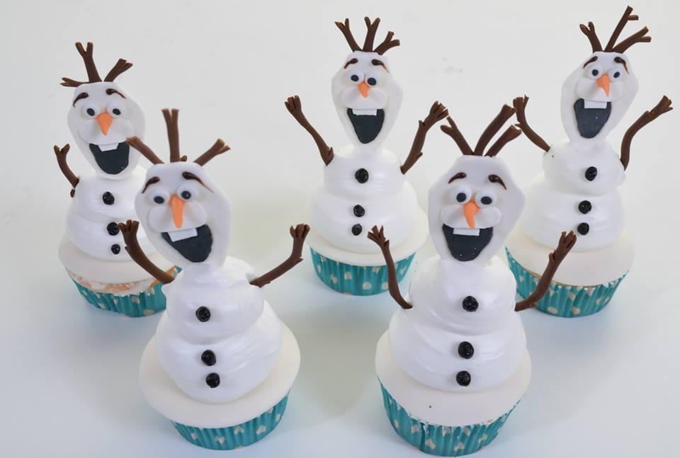 cupcake da frozen Olaf