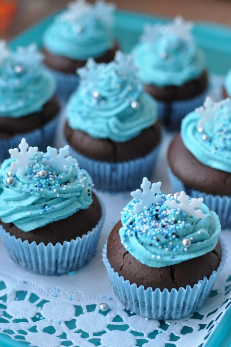 cupcake da frozen Simples