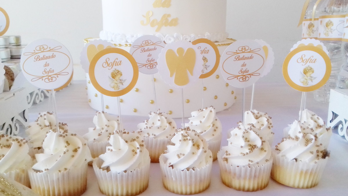 Cupcake Para Batizado Com Chantilly