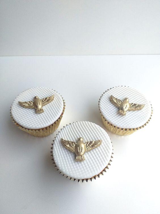 Cupcake Para Batizado Pasta Americana